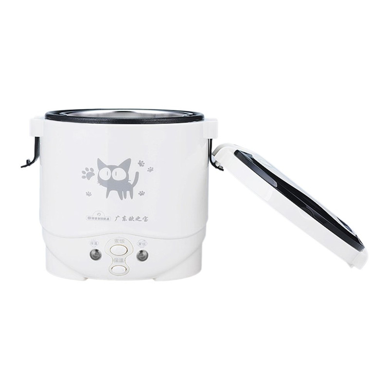 1L Multifunction Electric Rice Cooker 2In1 Function Cook +Steam Auto Rice Cooker Long Holding Time Mini Cooker For Rice Soup<br>