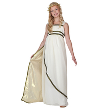 Child Ethereal Athena Olympic Goddess Costume Greeks Historical Fancy Dress(China)