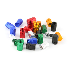1 set of 4 pieces universal aluminum hexgon style auto car tyre valve caps motorcycle bicycle wheel tire valve cap(China)