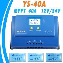 40A MPPT Solar Controller 12V 24V Auto with Dual 5V USB Output Solar Charge Regulator Max 150V PV Input RS232/LAN Connector NEW