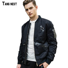 TANGNEST Men Autumn Jackets 2017 New Arrival Men's Slim Fit Jacket Fashion Design Style Outwear Jacket For Man MWJ2314