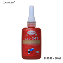 ZHANLIDA 243 50ml Screw Locking Agent Anaerobic Glue Medium Strength Adhesive Thread Seal up Anti Rust High Oil Resistance