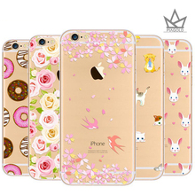 Flower Series Pattern Design with Soft TPU Bumper+Hard Cover for iPhone5s/se for iPhone6/6s/6plus/6splus for iphone7/7plus(China)
