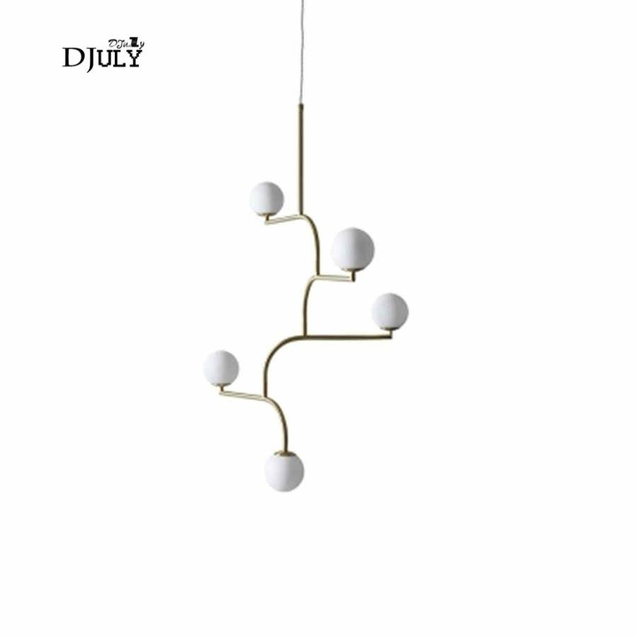 Italian Design Swing Arm Glass Ball Chandelier Lighting For Kitchen Bar Modern Hanging Lamp Living Room Decoration Light Fixture Lights & Lighting