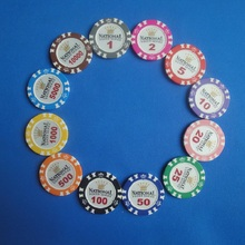 Wholesale 20PCS/Lot Crown National Poker Chips Texas Hold'em Poker Chips Clay+Iron Poker Club 10000 Value Casino Chip Game Chips(China)