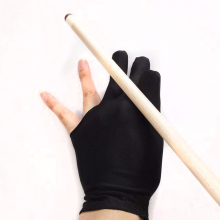 Fast shipping 1pcs Snooker Nylon Billiard Pool Table Cue Shooters 3 Fingers Billiards Gloves Stretchable free shipping