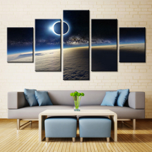 5 Pieces Eclipses Night Star Dust Moon Surface Modern Home Wall Decor Canvas Picture Art HD Print Painting On Canvas Artworks(China)