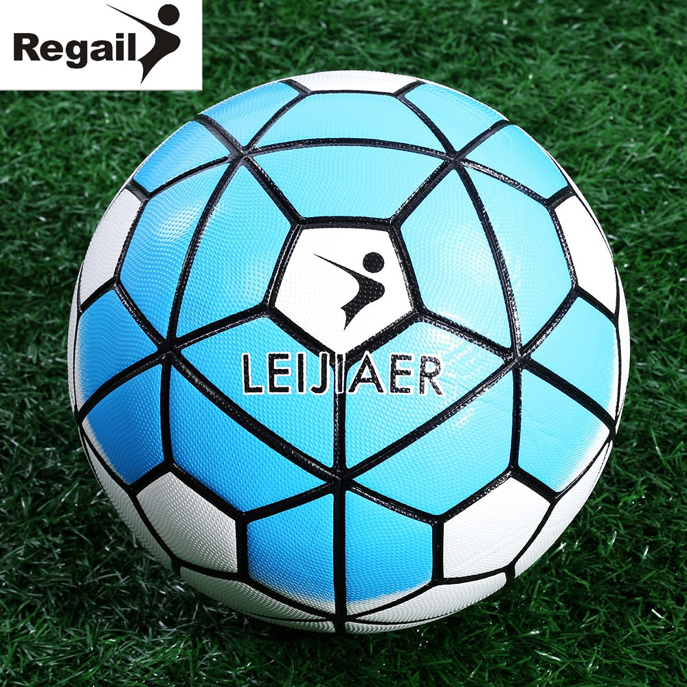 Image REGAIL Size 5 Anti slip PU Graded Soccer Ball Football Slip resistant Football High Quality 3 Colors 2016 NEW Arrival