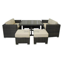 New design synthetic rattan modern Wicker Love Seat Conversation & Dining Group