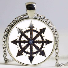 2017 New Adeptus Mechanicus Pendant Warhammer Necklacre Space Marines Video Chain Silver Pendants Necklaces Round Jewelry