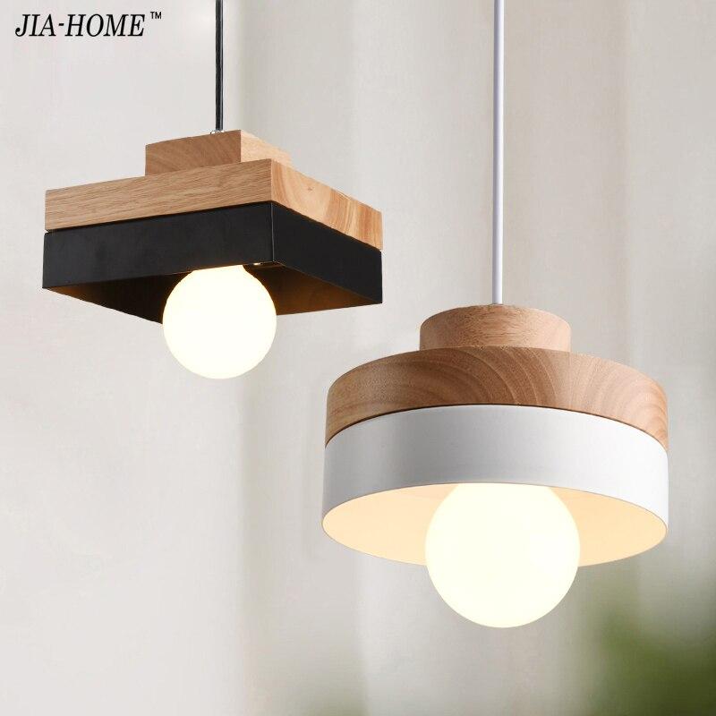 Modern pendant lights fashion Wood IRON lamps fo Restaurant office aisle corridor living room dining room pendant lamp fixture<br>