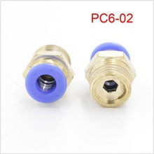 10 Pcs PC6-02 Pneumatic Quick Connect PC tube(hose) fittings