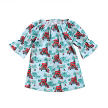 Newborn KIds Baby Girls Cars Dress Winter Christmas Dress Casual Party Children Dresses Kids Girl Clothes(China)