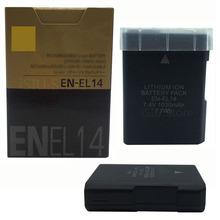 EN-EL14 digital batteries ENEL14 EN EL14 Camera Battery pack For Original Nikon D5200 D3100 D3200 D5100 P7000 7100 MH-24 bateria