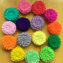 600pcs/lot DHL Free Shipping 1'' Tiny Felt Flower Without Clips Hair Accessories Children Hair Flower -U PICK  COLORS