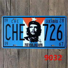15x30 CM License Plates CHE GUEVARA 1928 Antique Bar Signs Mural Decorative Metal Plate Vintage Plaque