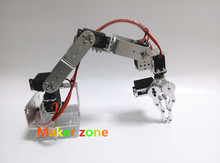 6 dof Robot Arm/hand, 6pcs High torque servo, Metal/plastic mechanical Claw/Gripper,For Robot DIY,teaching demo,programming
