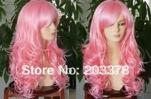 Free shipping Long wave pink synthetic hair wigs 10pcs/lot Factory Outlet Price mix order for you