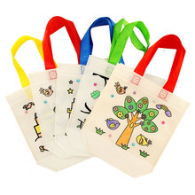3PCS/LOT DIY Drawing Storage Bag Handbag Craft Kits Fabric Children bag Kids Learning Toy Activity Items Fantastic Painting Gift