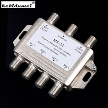 High Quality MS34EZ 3x4 Satellite MultiSwitch Splitter FTA TV LNB Switch Cascade satellite 3 in 4 Multiswitch For DVB-S2 DVB-T2