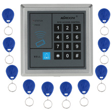 KKmoon 125KHz RFID Door Access Control System Home Security RFID Proximity Entry Door Lock With 10 pieces RFID Key Fobs