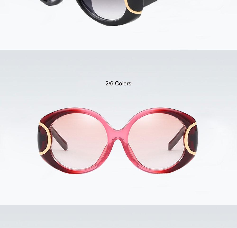 VEGA Eyewear Fashion Oval Sunglasses Women for Big Face Ladies Oversized Glasses with  ( (5)