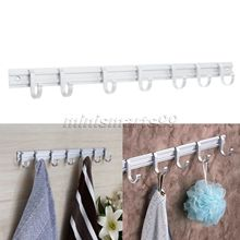 5/6/7/8 Hook Aluminum Bathroom Kitchen Wall Towel Hanger Coat Hat Hanger Towel Rack Holder Towel Robe Hooks Home Bathroom Decor