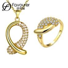 2015 New Arrival Fashion Wedding Jewelry Set Zirconia   Bijouterie Set Choose Size For Ring S055-A(China)