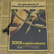 5 Sizes 2001 A Space Odyssey movie film paper Poster bar cafe decoration wall sticker