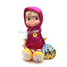New Arrival Russian Language Musical Talking Masha Action Figure Doll 27cm Masha and Bear Toy Masha e orso Boneca Gift For Girls