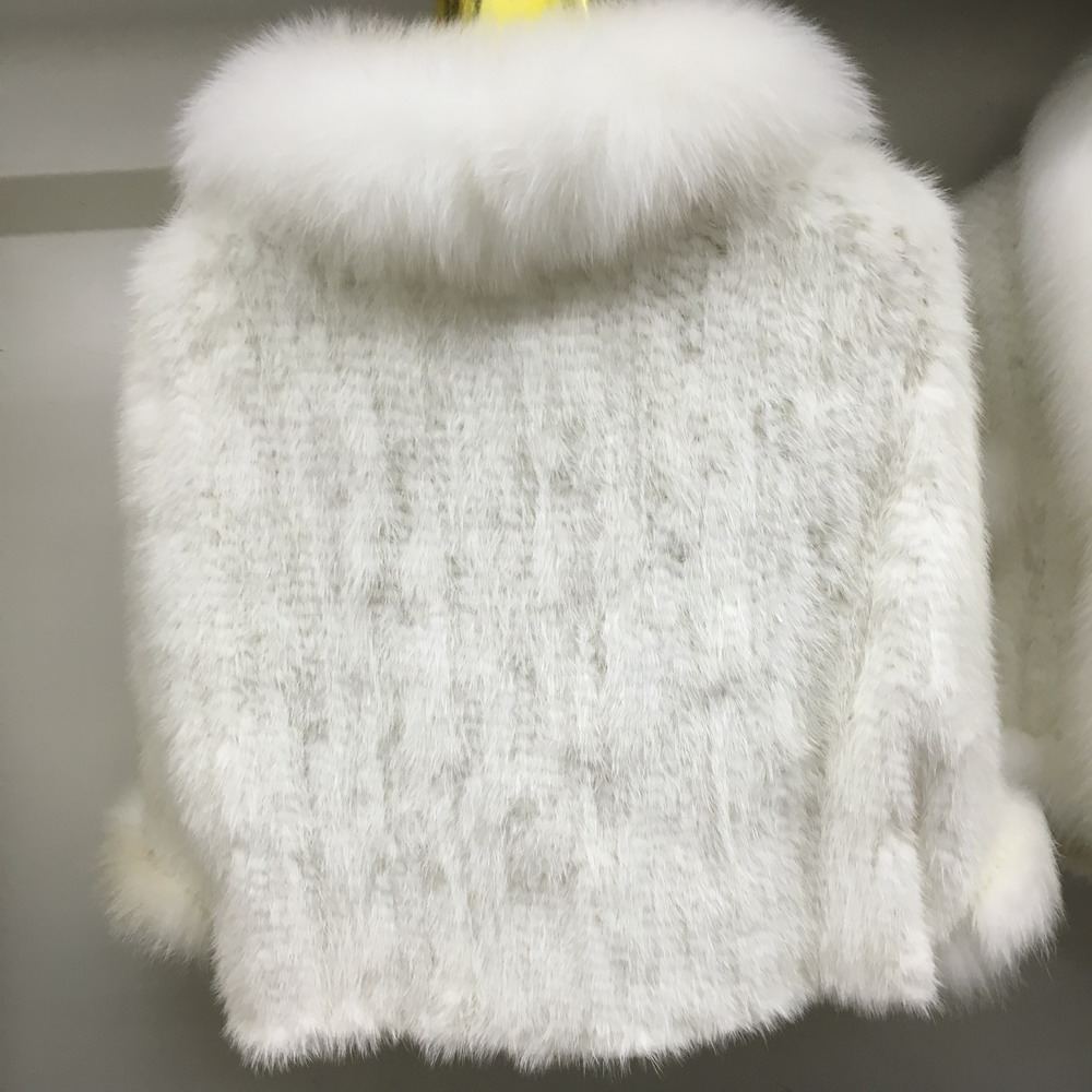 Luxury Mink Fur Shawl For Women Poncho Cape Knitted Genuine Fur Jacket Coat Female Winter Wraps Outerwear (3)