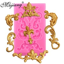 Mujiang European Relief Cake Border Silicone Cake Mold Cupcake Fondant Cake Decorating Tools Gumpaste Chocolate Moulds XL378