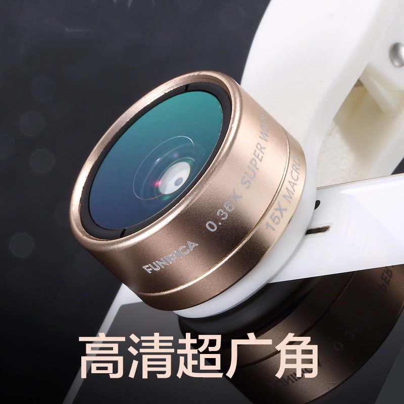 Phone lens wide-angle Mobile fisheye macro three SLR camera set a iphone6 universal external camera<br><br>Aliexpress