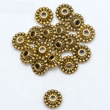 50pcs Circle Flower Tire Tibetan Silver Gold Tone Metal Spacer Beads Wholesale Supplies For Jewelry Making Diy Gift Accessories