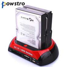 "3.5"" 2.5"" SATA IDE 2 Double Dock HDD Docking Station e-SATA Hub External Storage Enclosure Parts EU US plug(China)"