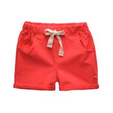 Candy Colors Summer Solid Shorts For Baby Boy Loose Mid Waist Casual Children's Shorts