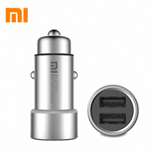 Original XIAOMI MI car charger 5V/3.6A dual car charger for xiaomi iphone samsung  + retail box drop shipping
