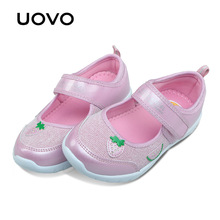 UOVO 2017 new kids shoes fashion girls princess casual shoes light brand little girls dress shoes for school spring&summer(China)