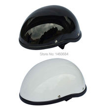 Classical FRP Vintage Retro Motorcycle Scooter Helmet Open Half Face Helmet Black/White