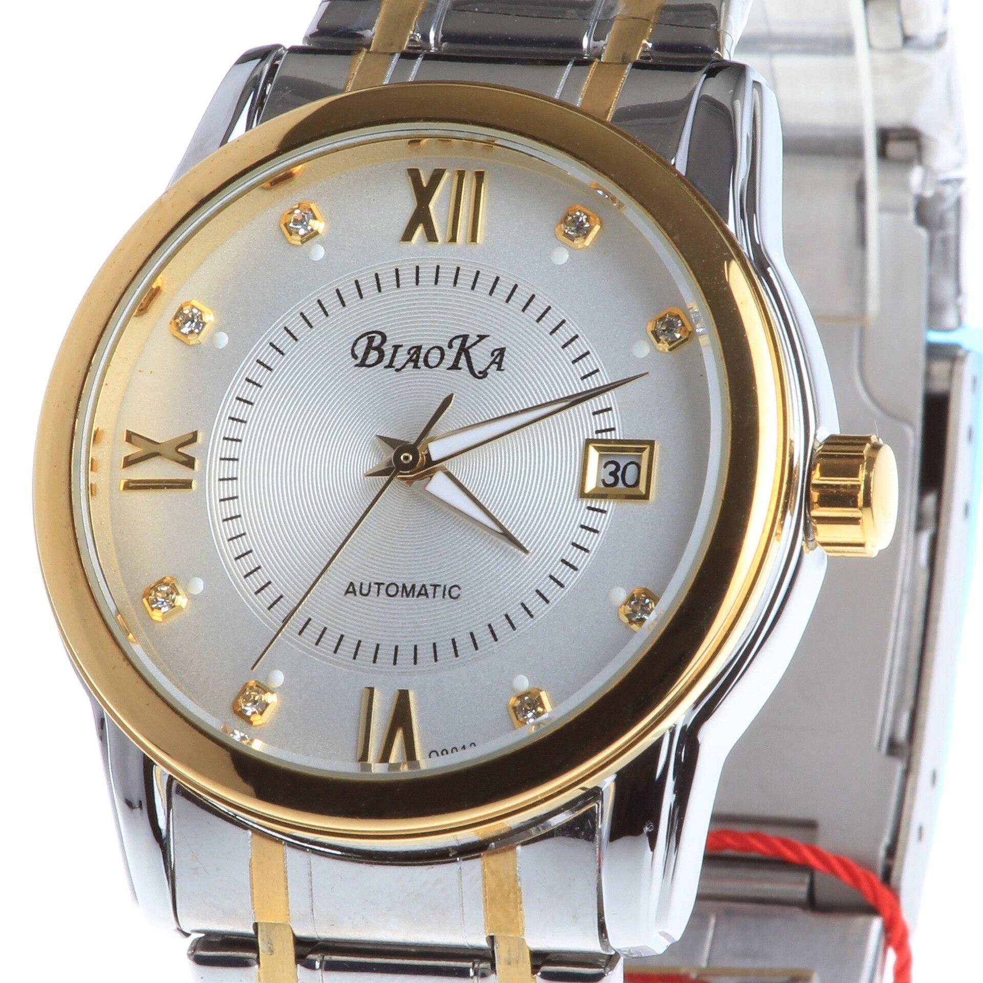 2017 New Arrival Brand BIAOKA Golden watch Mens Waterproof Calendar Rome Automatic Mechanical Watch Men Wristwatches Clock Male<br>
