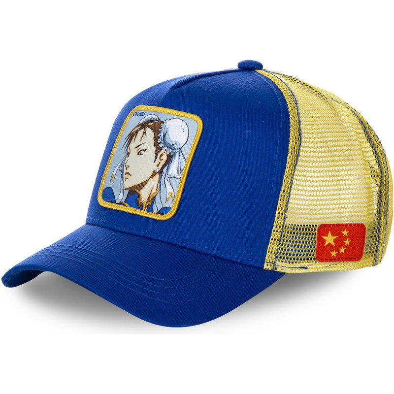 capslab-chun-li-chu-street-fighter-blue-and-yellow-trucker-hat (2)