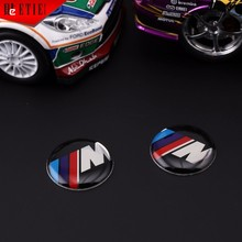 M Logo Epoxy Sticker MINI Car Accessories Auto Racing Decal Wrap Aufkleber Glue Sticker Printing Label Car Styling Metal Badge(China)