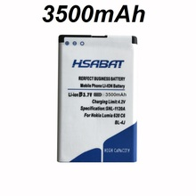 HSABAT BL-4J 3500mAh Battery for Nokia Lumia 620 Battery C6 C6-00 Bateria Touch 3G C600(China)