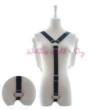 Buy Male Sexy Leather Harness Body Bondage Slave Strap + Penis Ring Fetish Belt Bondage Restraint Adult Sex Toys Man Gay Cosplay