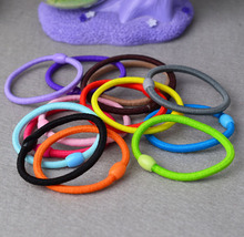 5 pieces lot Hot Sale Korean Fashion Girl Elastic Hair Bands Tie Rope Ring Rubber Ponytail Holder Hair Bands For Women
