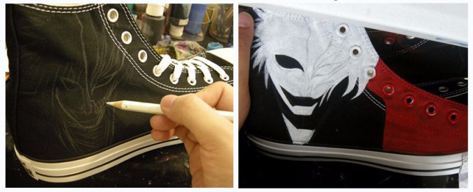 Painting Step 1 of the shoes