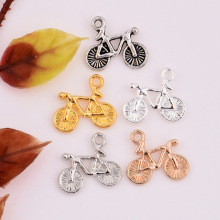 High Quality 50 Pieces/Lot 16mm*13.5mm Gold/Silver Plated Bike Charm Vintage Bicycles Charms For Diy Making