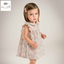 DB5051 dave bella summer baby girl wedding dress baby sweet princess dress floral dress kids birthday party kids costumes