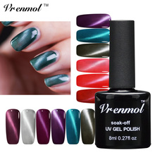 Vrenmol 1pcs UV LED Cat Eys Gel Nail Polish Magnet Nail Gel Varnish Soak Off Long Lasting Magnetic Nail Gel Lacquer(China)