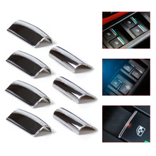 New 7Pcs Chrome Door Window Switch Lift Button Cover Trim For Toyota RAV4 Corolla AYGO Verso AVENSIS YARIS/VITZ Auto Parts